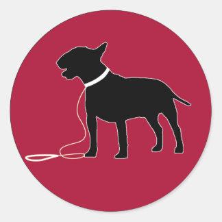 Red bull terrier sticker