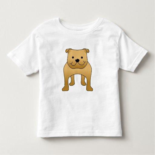 Red Bulldog. Dog Cartoon. Tshirts