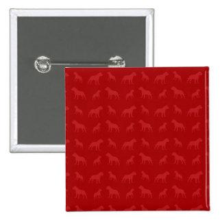 Red bulldog pattern pinback button