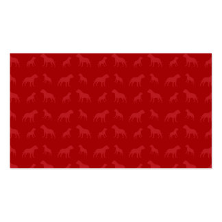 Red bulldog pattern Double-Sided standard business cards (Pack of 100)
