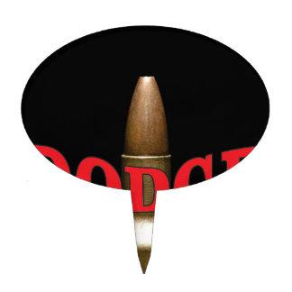 red bullet dodge spiral cake topper
