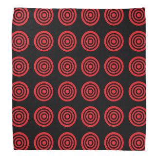 Red Bullseye Black Bandana