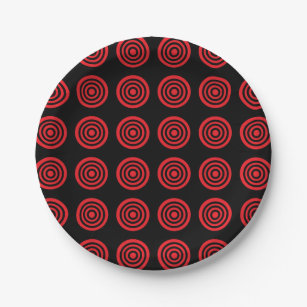 Red Bullseye Black Paper Plates  sc 1 st  Zazzle & Bullseye Plates | Zazzle