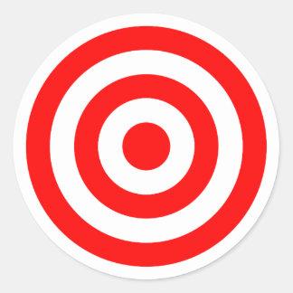 Red Bullseye Target Classic Round Sticker
