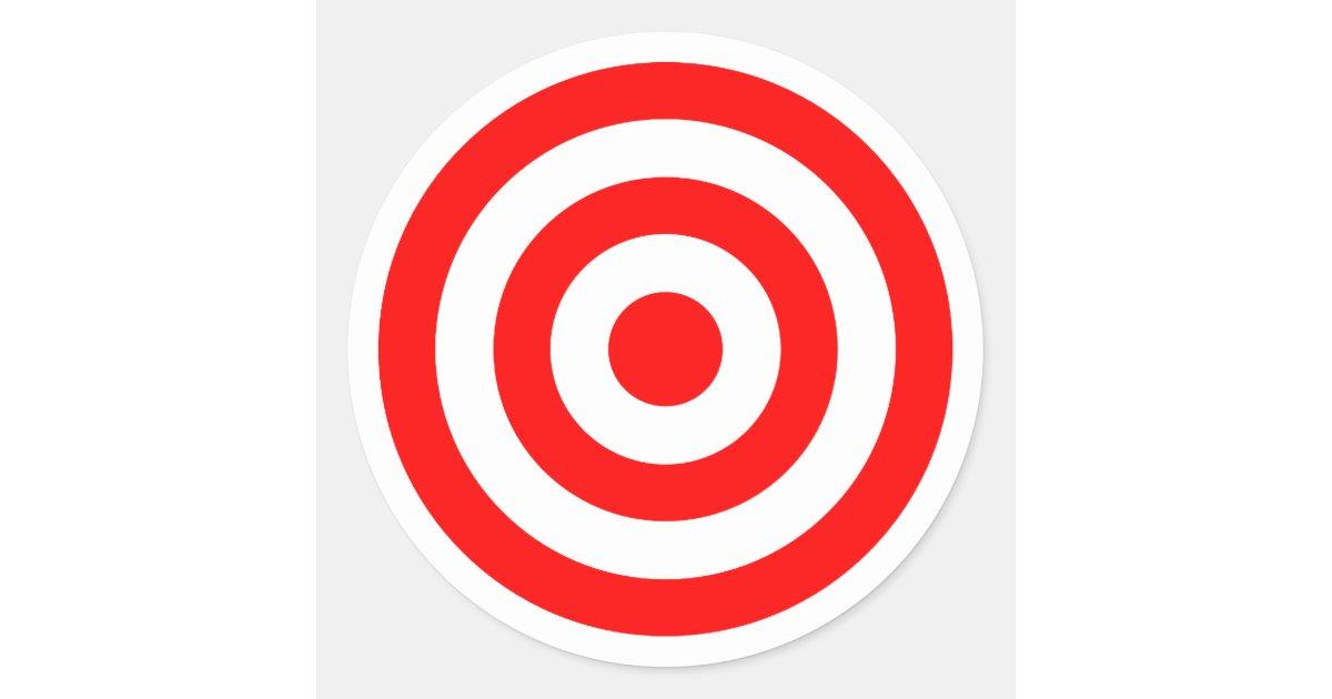Red Bullseye Target Classic Round Sticker | Zazzle.com