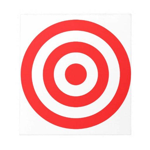 Red Bullseye Target Memo Pads