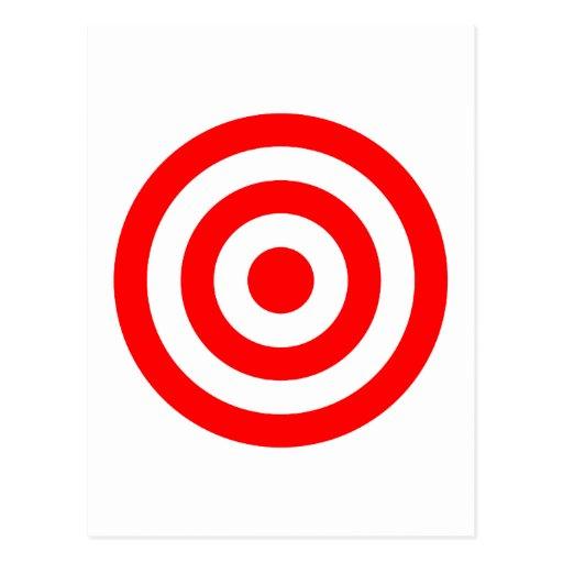 Red Bullseye Target Postcard Zazzle