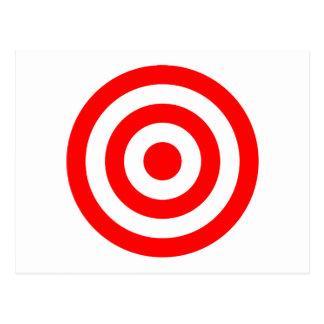 Red Bullseye Target Postcard
