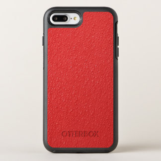Red Bumpy Pattern OtterBox Symmetry iPhone 7 Plus Case