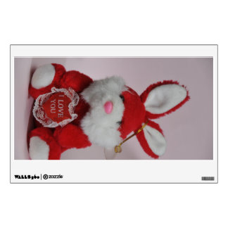 Red bunny toy room decals