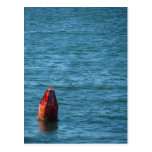 Red Buoy on the Ocean Post Card