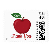 Red Burgundy Apple Just Thank You Wedding Party Postage