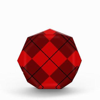 Red & Burgundy Argyle Acrylic Award