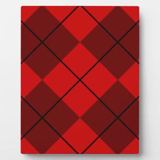 Red & Burgundy Argyle Plaque