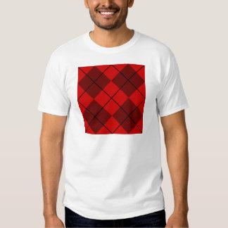 Red & Burgundy Argyle T Shirt