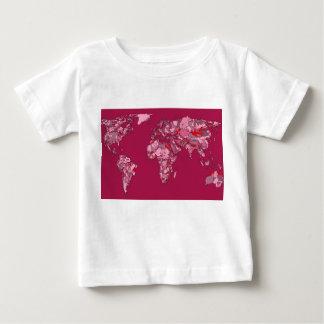 red burgundy earth map tee shirt