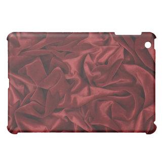 Red Burgundy Silk Fabric iPad Case