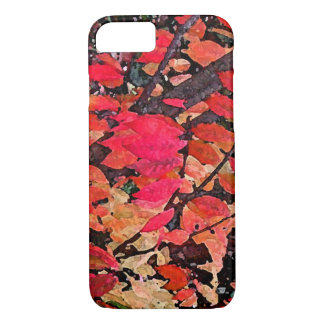 Red Burning Bush Abstract iPhone 7 Case