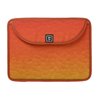 Red Burnt Orange to Gold Ombre Crackle Pattern MacBook Pro Sleeve