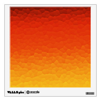 Red Burnt Orange to Gold Ombre Crackle Pattern Wall Sticker