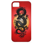 Red Burst Chinese Dragon iPhone 5 Case