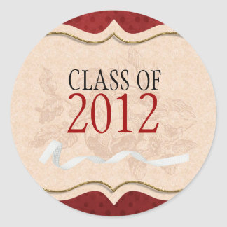 Red Burst Class Of Graduation Stickers
