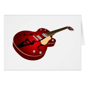 Red Burst Guitar Card