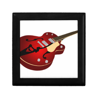 Red Burst Guitar Jewelry Boxes