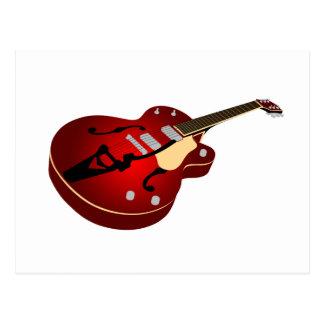 Red Burst Guitar Postcard