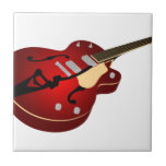 Red Burst Guitar Tile