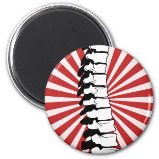 Red Burst Spine Magnet