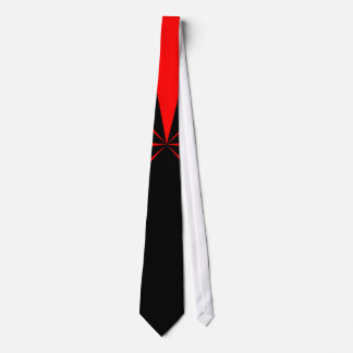 Red Burst Stripe Up by Kenneth Yoncich Neck Tie