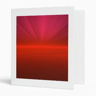 Red Burst Sun Rise Binder