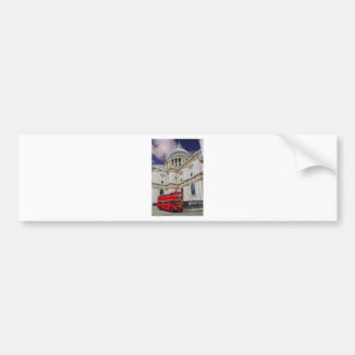 Red Bus and St Pauls Uni(multiple images selected) Car Bumper Sticker