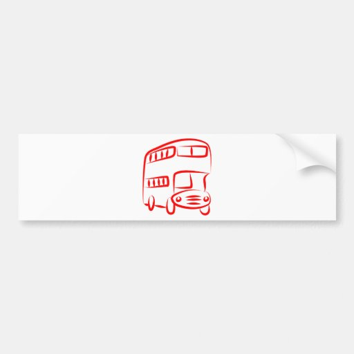 Red Bus Bumper Stickers