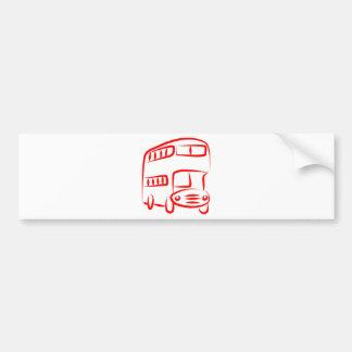 Red Bus Car Bumper Sticker