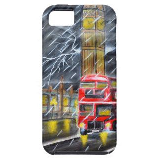 Red Bus in London night rain iPhone SE/5/5s Case