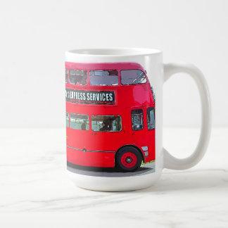 RED BUS CLASSIC WHITE COFFEE MUG