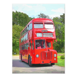 RED BUS PHOTO PRINT