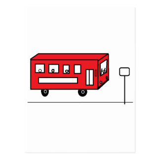 Red Bus Postcard