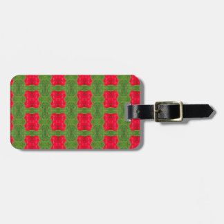 Red Bush Pattern Themed Merchandise Luggage Tag