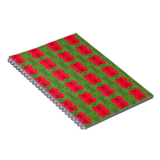 Red Bush Pattern Themed Merchandise Notebook