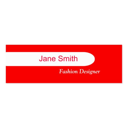 Red double sided mini business cards pack of 20 zazzle for Red business card template