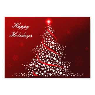 """red Business Holiday Flat cards 5"""" X 7"""" Invitation Card"""