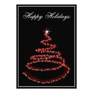red Business Holiday Greetings Personalized Announcement