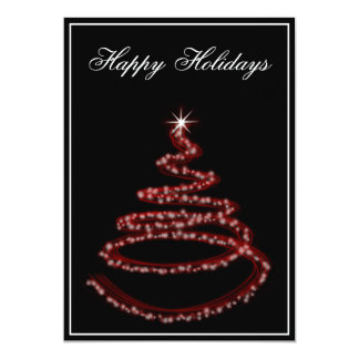 """red Business Holiday Greetings 5"""" X 7"""" Invitation Card"""