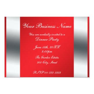 """Red Business invitation 5"""" X 7"""" Invitation Card"""