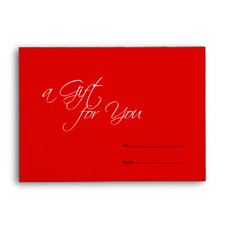 Red business store gift for you certificate holder envelopes
