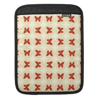 Red butterflies iPad sleeve