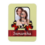 Red butterflies photo template magnets